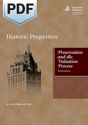 Historic Properties: Preservation and the Valuation Process, third edition - PDF