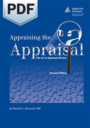 Appraising the Appraisal: The Art of Appraisal Review, second edition - PDF