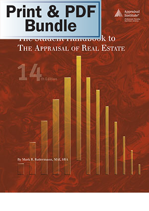 The Student Handbook to The Appraisal of Real Estate, 14th ed. - Print + PDF Bundle