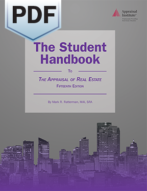 The Student Handbook to The Appraisal of Real Estate, 15th Edition - PDF