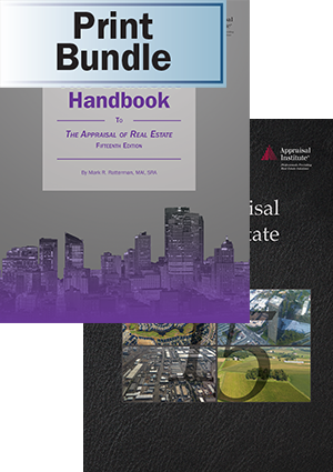 The Appraisal of Real Estate, 15th ed. + The Student Handbook - Print Bundle