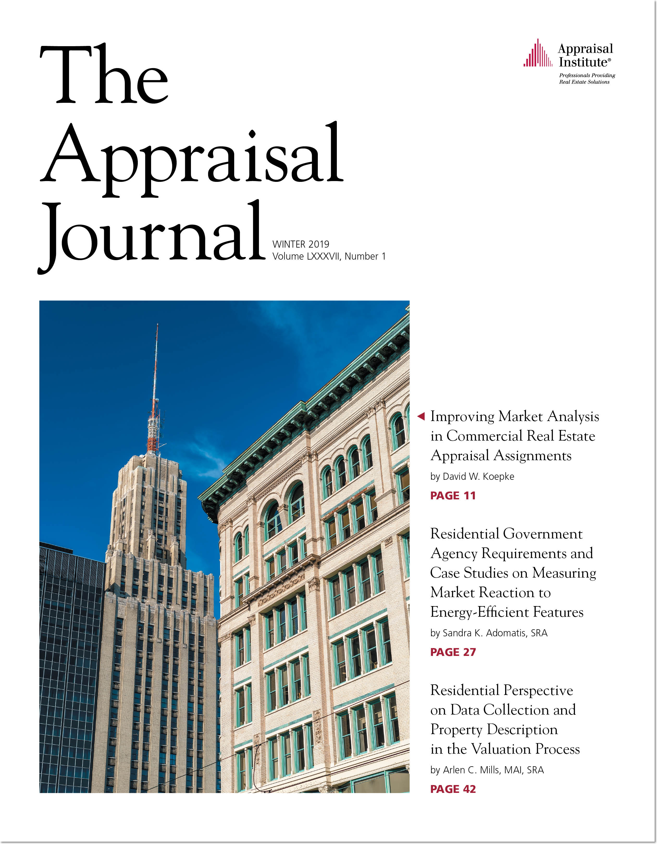 The Appraisal Journal (One Year)
